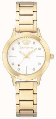 Juicy Couture 女式金色不锈钢表链白色表盘 JC-1050WTGB