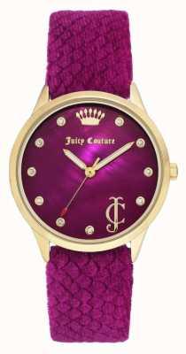 Juicy Couture 女式勃艮第表盘|勃艮第天鹅绒表带|金色表壳 JC-1060HPHP