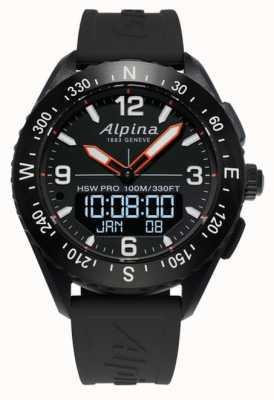 Alpina Alpinerx智能手表黑色橡胶表带 AL-283LBB5AQ6