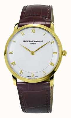 Frederique Constant 男士石英细线镀金表壳 FC-200RS5S35