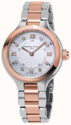 Frederique Constant 女士的钟表smartwatch喜欢两种玫瑰金色调 FC-281WHD3ER2B
