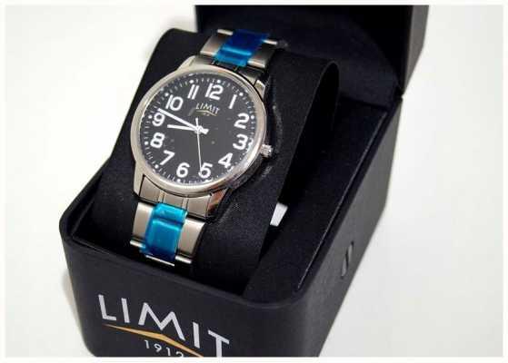 Limit |男士黑色表盘|不锈钢手链| 5648