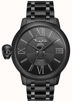 Thomas Sabo 男士反叛与业力黑色ip不锈钢头骨手表 WA0305-202-203