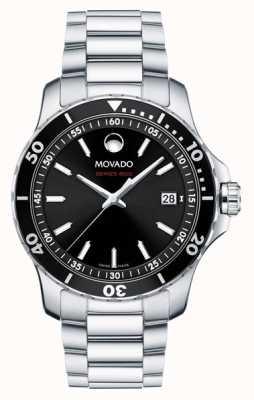 Movado 男装系列800不锈钢黑色表盘 2600135