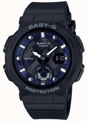 Casio Baby-g黑色表带海滩旅行者 BGA-250-1AER