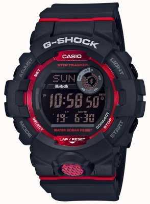 Casio G-squad黑/红数字蓝牙步进跟踪器 GBD-800-1ER
