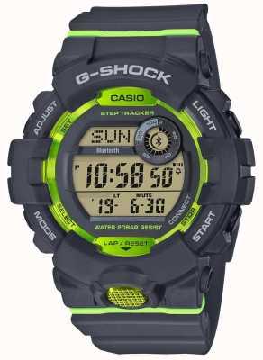 Casio G队灰色绿色数字蓝牙步进跟踪器 GBD-800-8ER