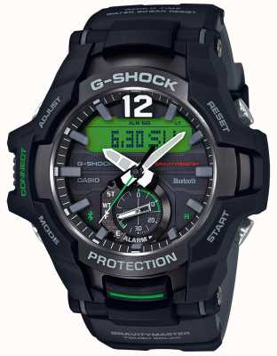 Casio G-shock gravitymaster蓝牙太阳能黑/绿橡胶 GR-B100-1A3ER