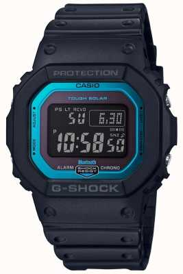 Casio G-shock蓝牙无线电控制树脂带黑/蓝 GW-B5600-2ER