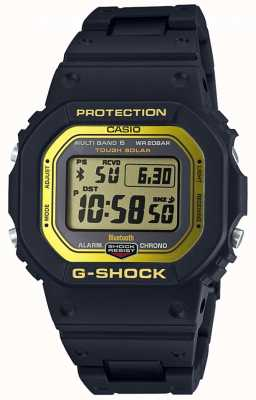 Casio G-shock蓝牙无线电控制复合带黑/ yel GW-B5600BC-1ER