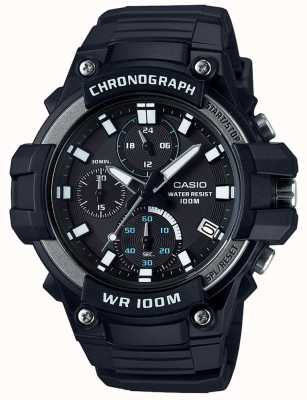 Casio 核心运动计时码表黑色wr100m MCW-110H-1AVEF