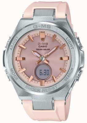 Casio G-ms baby-g坚韧的太阳粉红色橡胶表带 MSG-S200-4AER