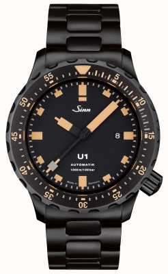 Sinn U1 se黑色手链tegiment手表 1010.023 BRACELET