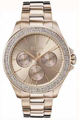 Boss 女装首映水晶镶金镀金手链 1502443
