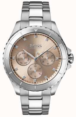 Hugo Boss 女装首映青铜表盘不锈钢表链 1502444