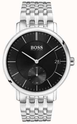 Boss 男士不锈钢黑色表盘 1513641