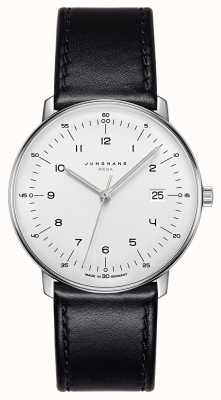 Junghans Max bill mega mf黑色皮革表带 058/4820.04