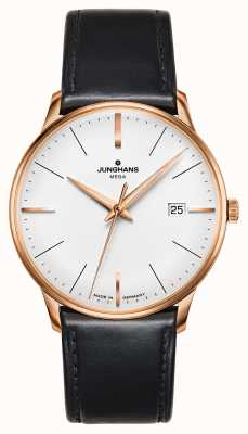 Junghans Meister mega mf黑色皮革表带镀金表壳 058/7800.00