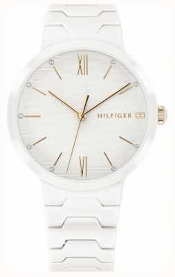 Tommy Hilfiger 女式白色陶瓷手链avery手表 1781956