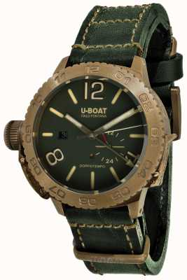 U-Boat Doppiotempo 46支Bronzo gr自动绿色皮革表带 9088