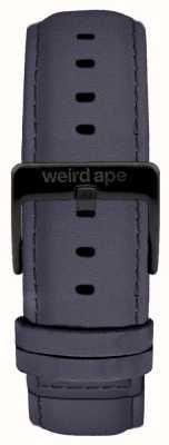 Weird Ape 蓝色紫罗兰色绒面革20毫米表带黑色扣 ST01-000079