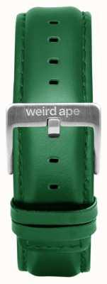 Weird Ape 祖母绿皮革20毫米表带银色搭扣 ST01-000110
