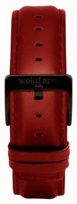 Weird Ape 红色皮革20毫米表带黑色搭扣 ST01-000077