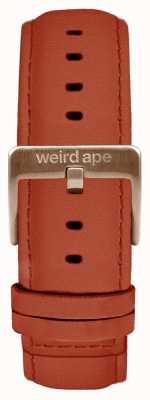 Weird Ape Rust绒面革20毫米表带玫瑰金搭扣 ST01-000094