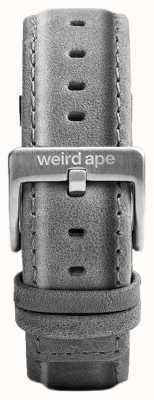 Weird Ape 板岩灰色绒面革20毫米表带银色扣 ST01-000016