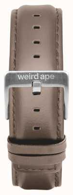 Weird Ape 榛子皮20毫米表带银色搭扣 ST01-000101