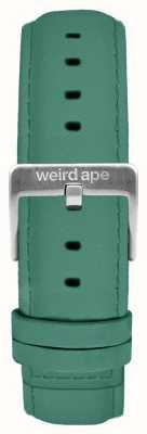 Weird Ape 翡翠绿色绒面革16毫米表带银色扣 ST01-000060