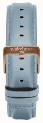 Weird Ape 粉蓝色皮革16毫米表带玫瑰金搭扣 ST01-000029