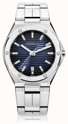 Michel Herbelin 男士不锈钢手表蓝色表盘 12245/B15