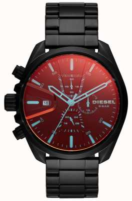 Diesel 男士ms9腕表彩虹色玻璃计时码表表盘 DZ4489