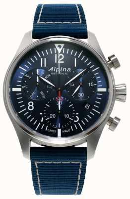 Alpina 男士startimer飞行员计时码表石英蓝色 AL-371NN4S6