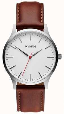 MVMT 40系列银色天然棕褐色|棕色表带|银色表盘 D-MT01-SNA