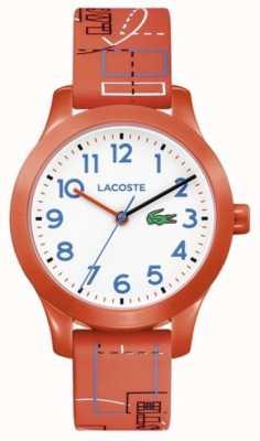 Lacoste 12.12儿童橙色表带白色表盘 2030010