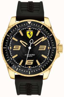Scuderia Ferrari 男士xx kers镀金表壳橡胶表带 0830485