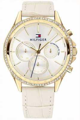 Tommy Hilfiger 女式米色真皮镀金水晶套装多功能 1781982
