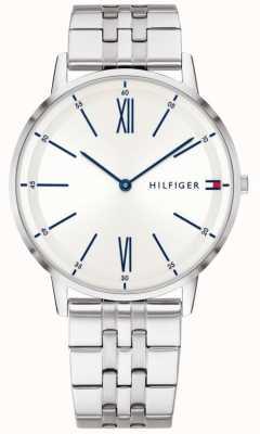 Tommy Hilfiger 男士不锈钢蓝色点缀银色表盘 1791511