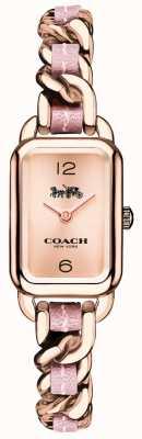 Coach 女装ludlow玫瑰金和粉红色手链表 14502844