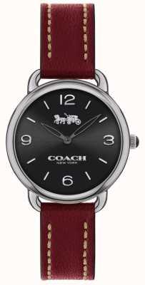 Coach 女装系列超薄手表红色皮革表带 14502792