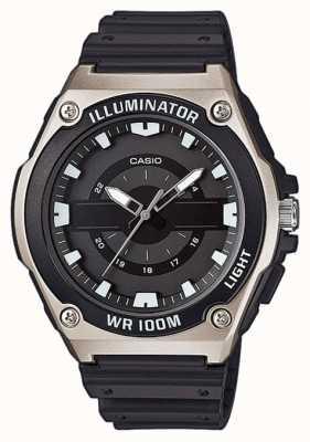 Casio 男士黑色树脂发光手表 MWC-100H-1AVEF