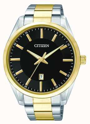 Citizen 男士双色石英黑色表盘日期 BI1034-52E