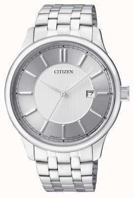 Citizen 男士石英不锈钢最小设计日期显示 BI1050-56A