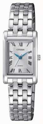 Citizen 女士石英银色表盘手链 EJ6120-54A