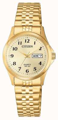 Citizen 女式石英不锈钢扩展手表 EQ2002-91P