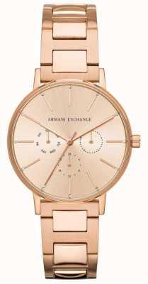 Armani Exchange Lola女装玫瑰金pvd镀 AX5552