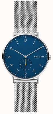 Skagen 阿伦男士不锈钢网蓝色表盘 SKW6468