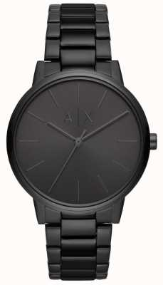 Armani Exchange Cayde男士黑色pvd镀金手链 AX2701